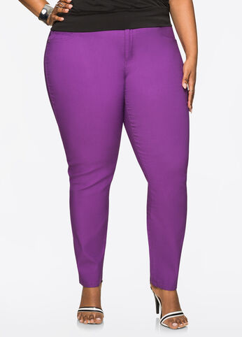 Super Stretch Ankle Skinny Pant Purple Magic - Bottoms