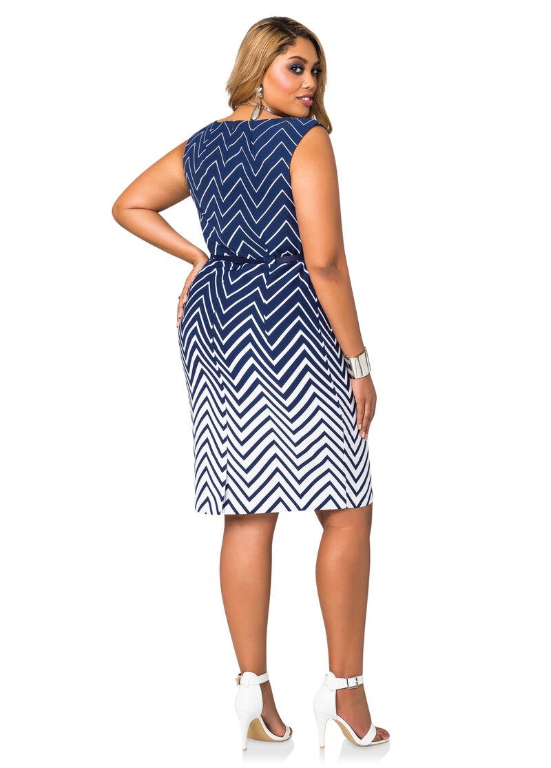 belted ombre chevron dress plus size dresses