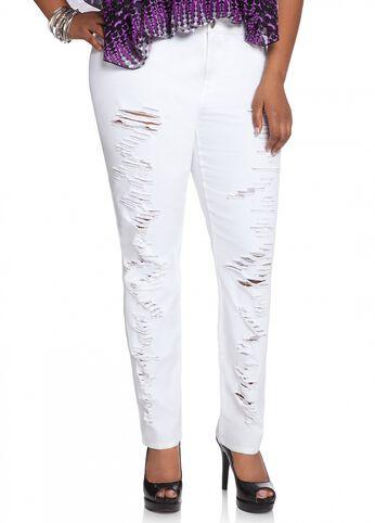 Ripped Skinny Denim Jean