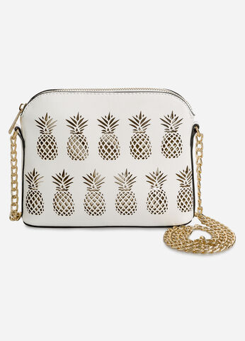 Pineapple Cutout Dome Shoulder Bag