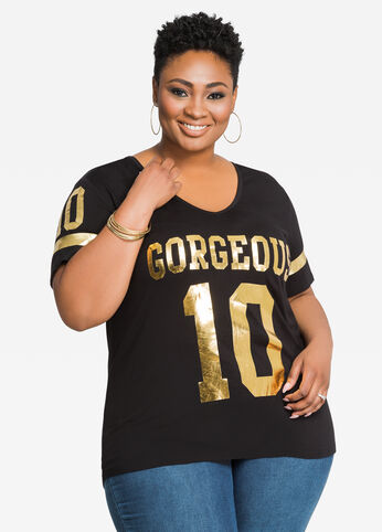 Gorgeous Gold Foil Graphic Tee