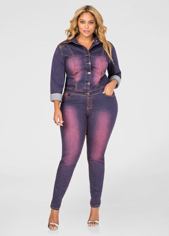 Purple Wash Skinny Jean