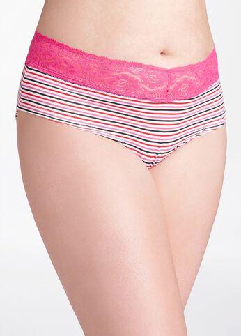 Striped Lace Bikini