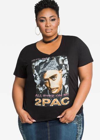 Tupac Forever V-Neck Tee