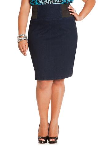 Elastic Waist Denim Skirt