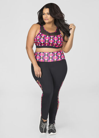 Lace-Up Side Active Legging