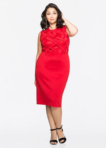 Flat Stud Lattice Dress Barbados Cherry - Dresses