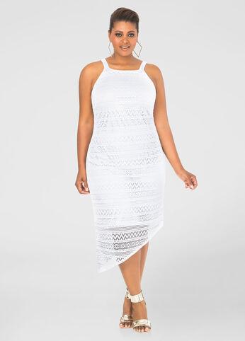 Lace Asymmetrical Sheath Dress