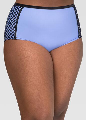 Mesh High Waist Bikini Bottom