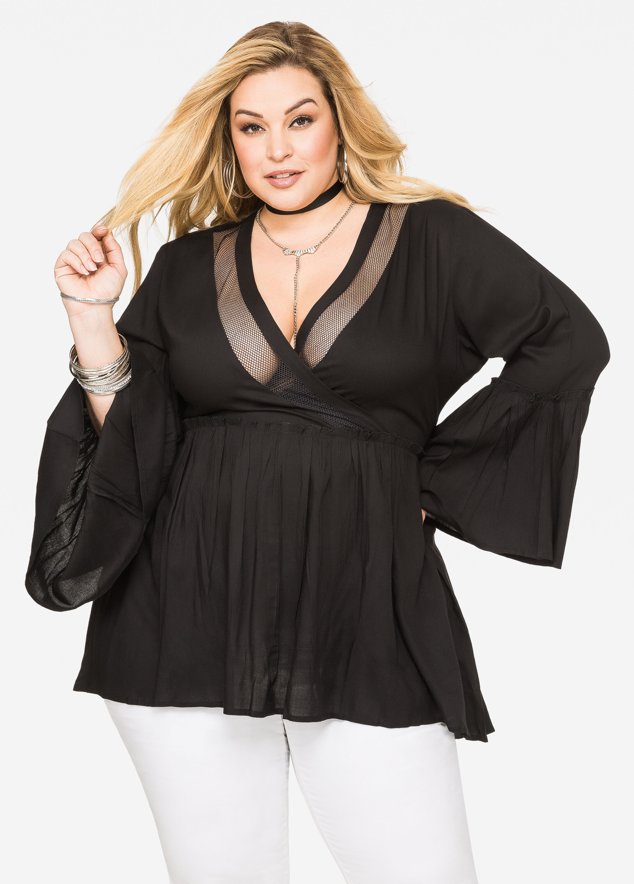 Buy Black Plus Size Tops - Ashley Stewart