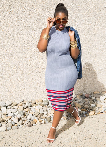 Plus Size Outfits - Summer Perfect in Stripes