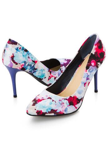 Natasha Pointy Toe Floral Pump - Wide Width