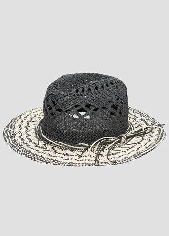 Contrast Brim Straw Panama Hat