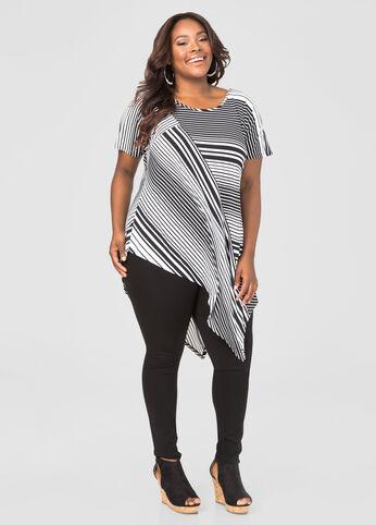 Asymmetrical Striped Tunic