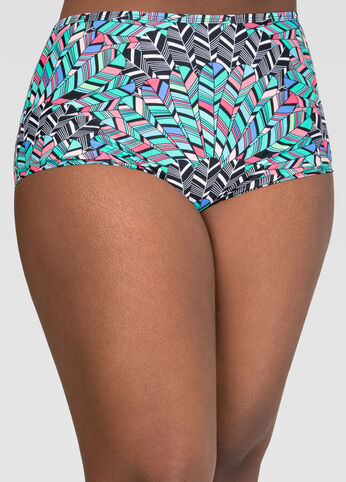 Geo High Waist Bikini Bottom