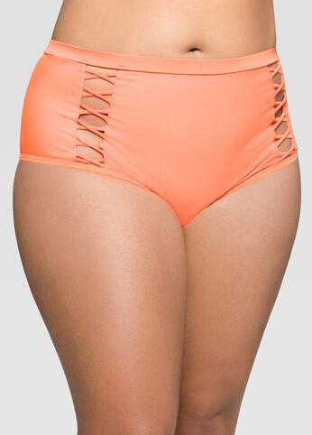 Criss Cross High Waist Bikini Bottom