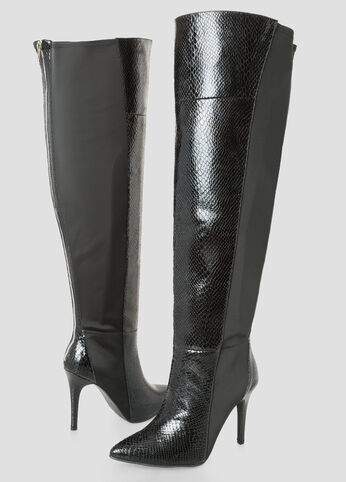 Snake Over The Knee Boot - Wide Calf Wide Width