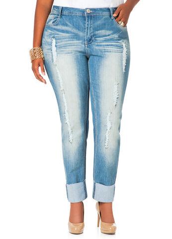 Skinny Roll Cuff Jeans