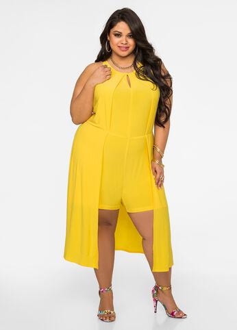 Maxi Overlay Romper Dandelion - Dresses