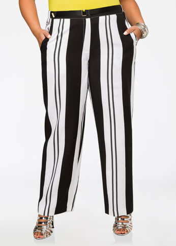 Vertical Striped Linen Pants