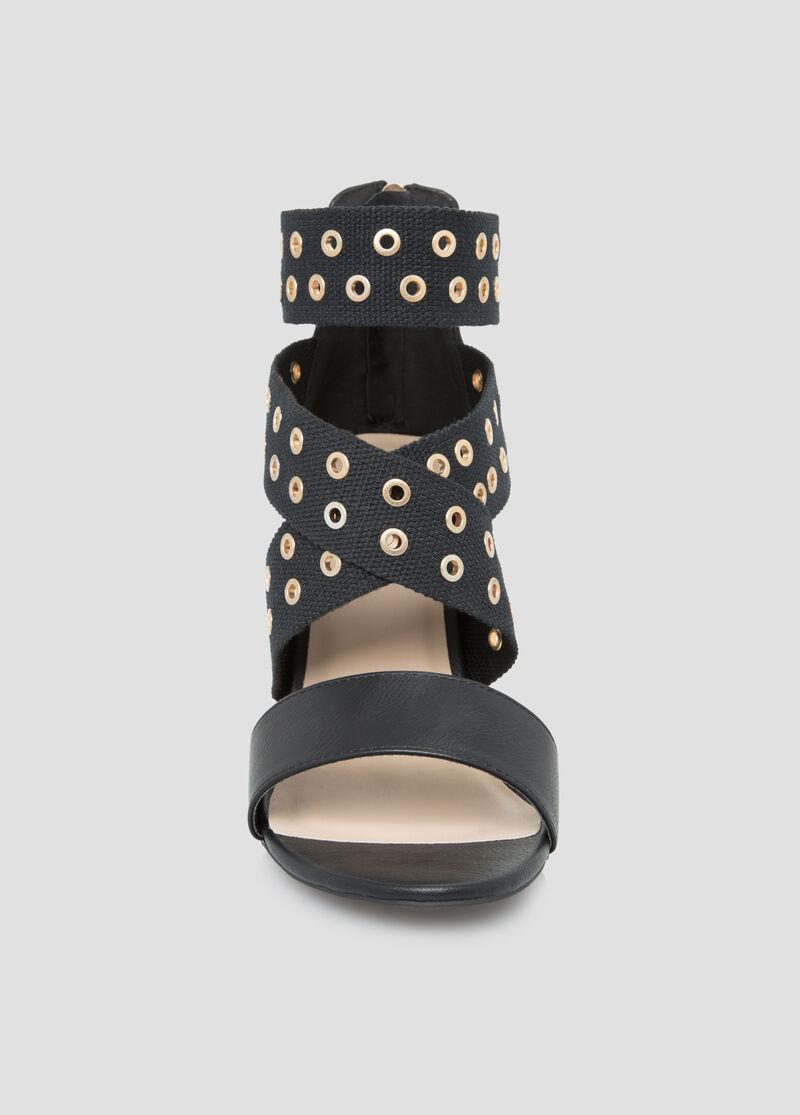 Black dress sandals wide width -  Strappy Grommet Dress Sandal Wide Width