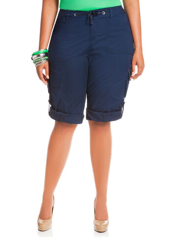 Double Pocket Cargo Drawstring Capri