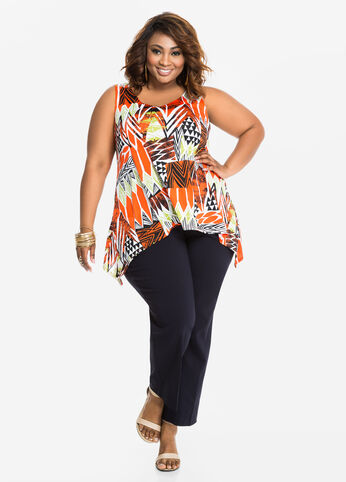 Plus Size Outfits - Sophisticated Print