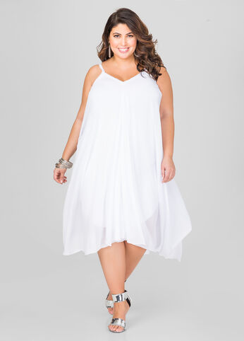 Flowy Hanky Hem Dress