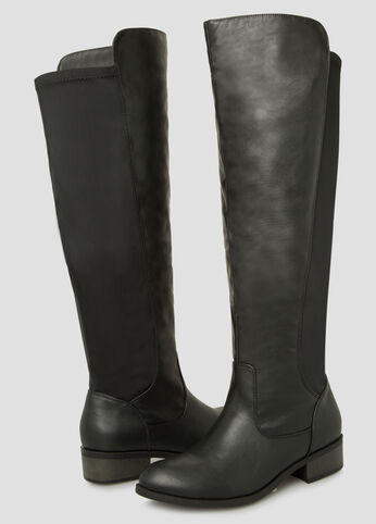 Mixed Media Tall Boot - Wide Calf Wide Width
