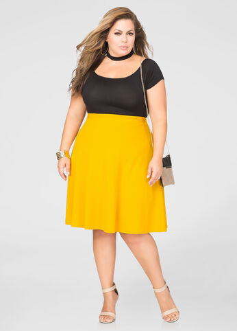 Pull-On Flare Skirt