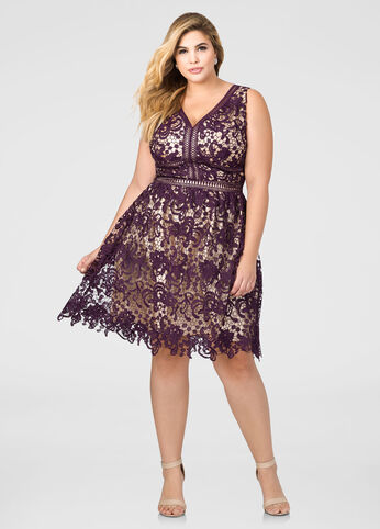 Allover Lace Special Occasion Dress