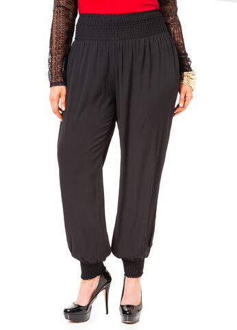 Smocked Waist and Cuff Jogger