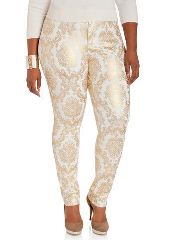 Baroque Skinny Denim Pants