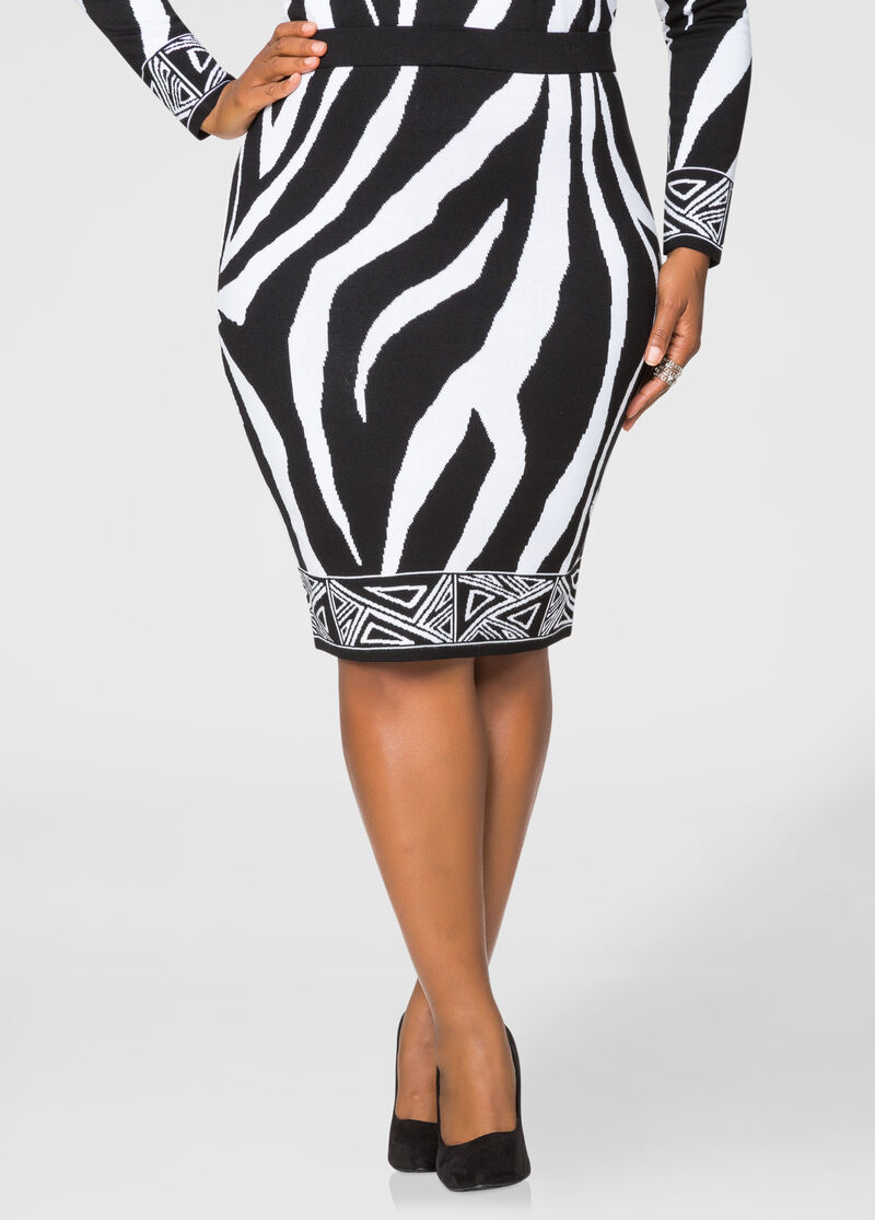 mixed zebra print pencil skirt plus size skirts stewart