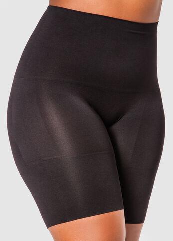 LONG LEG SHORTS  - Color: Black, Size: 1X