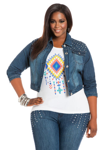 Rhinestone & Studs Denim Jacket