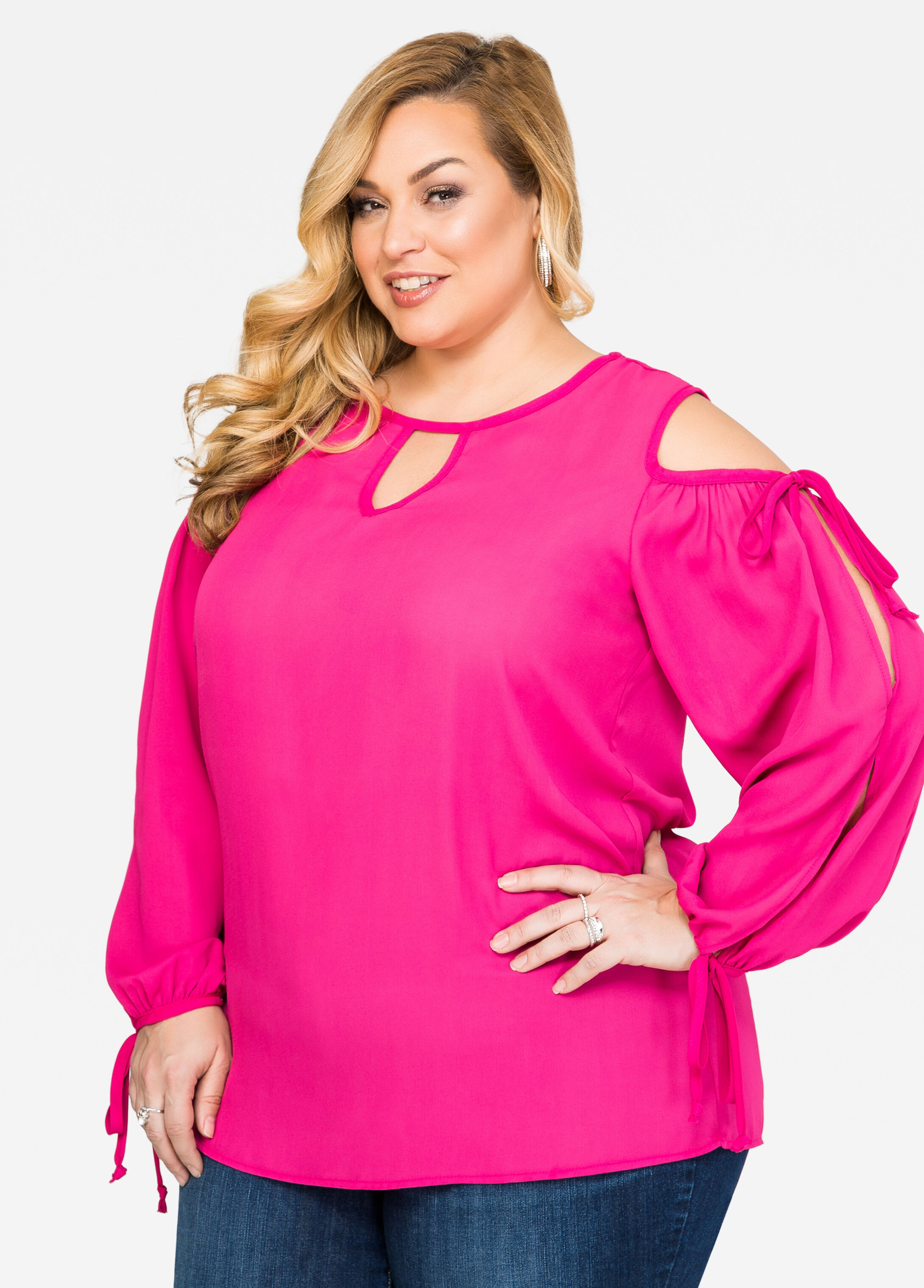 Buy Plus Size Peasant Blouses for Women - Ashley Stewart