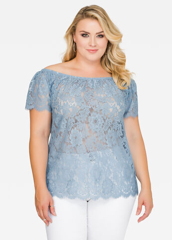 Off-Shoulder Lace Top