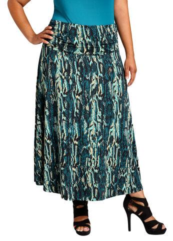 Printed Python Skirt