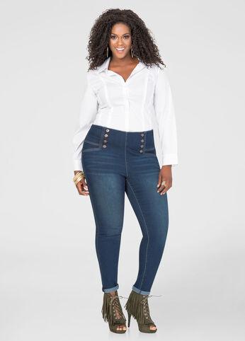 Sailor High Waist Skinny Jean