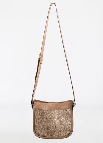 Glitter Sequin Colorblock Shoulder Bag