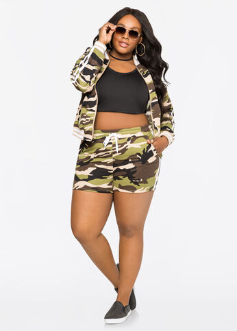 Camo Track Stripe Shorts