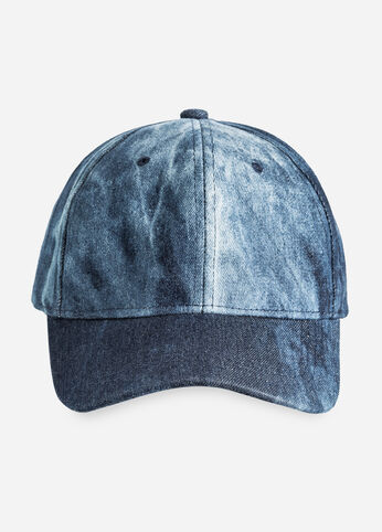 Washed Denim Baseball Cap - Accessories