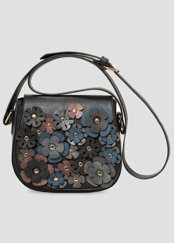 Laser Cut Floral Saddle Bag