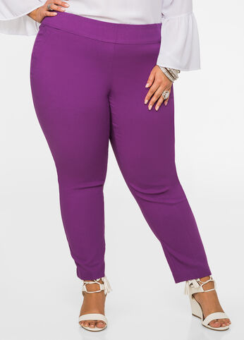 Ultra Stretch Skinny Pant Purple Magic - Bottoms