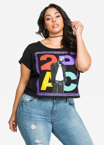 Tupac Graphic Cropped Top