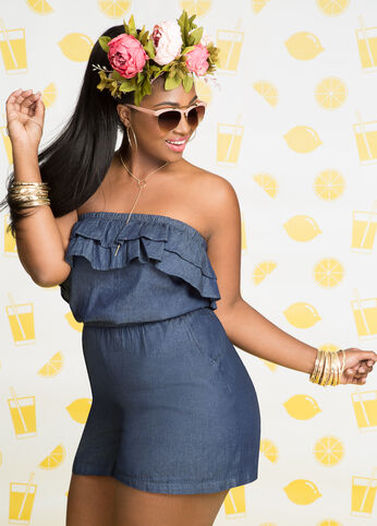 Plus Size Outfits - Rompin' Around