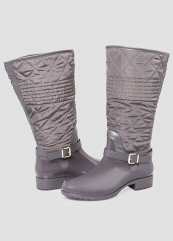 Quilted Snow Boot - Wide Calf, Wide Width Charcoal - Clearance
