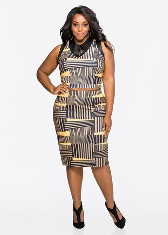 Textured Geo Slim Skirt Cornstalk - Dresses