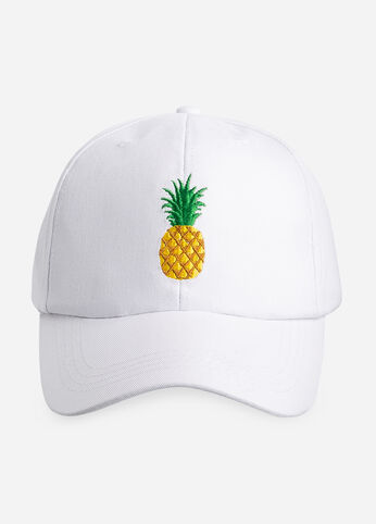 Pineapple Baseball Hat White - Accessories